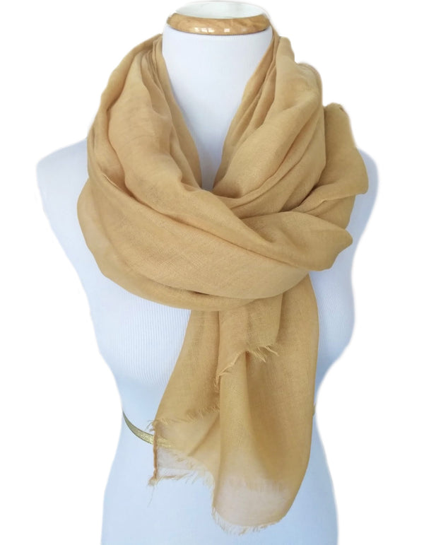 Ladies Scarf in Camel
