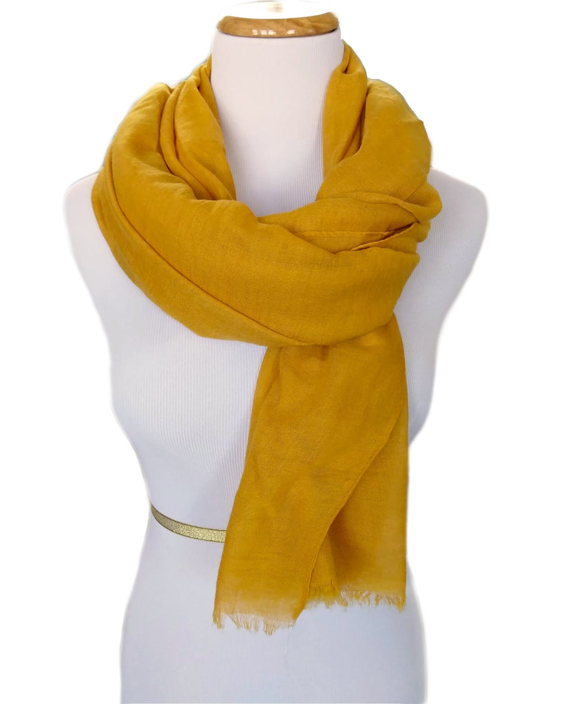 Ladies Scarf in Mustard Yellow