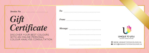 Online Colour Consultation Gift Certificate