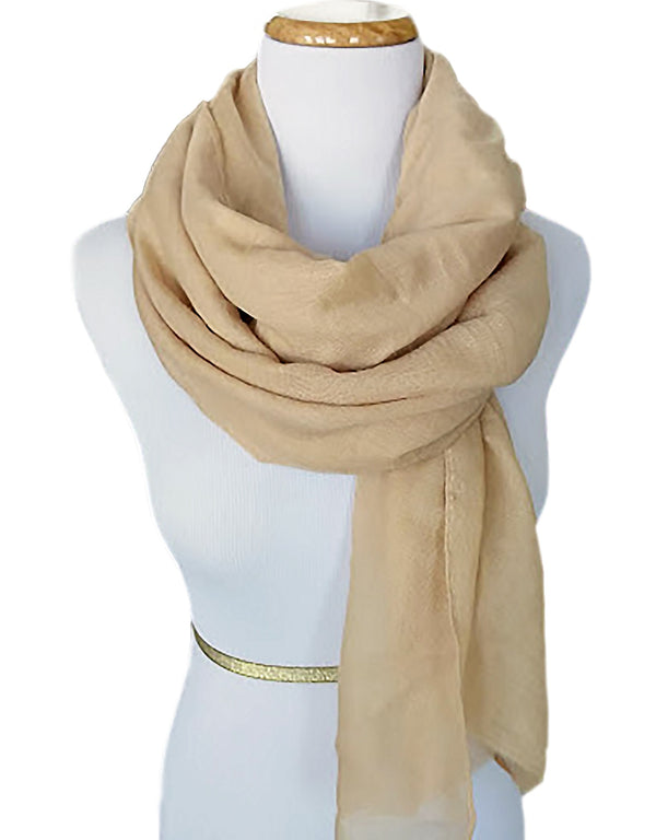 Ladies Scarf in Golden Beige