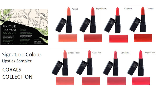 Signature Color Lipstick Sampler - Corals Collection