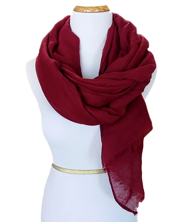 Ladies Scarf in Burgundy