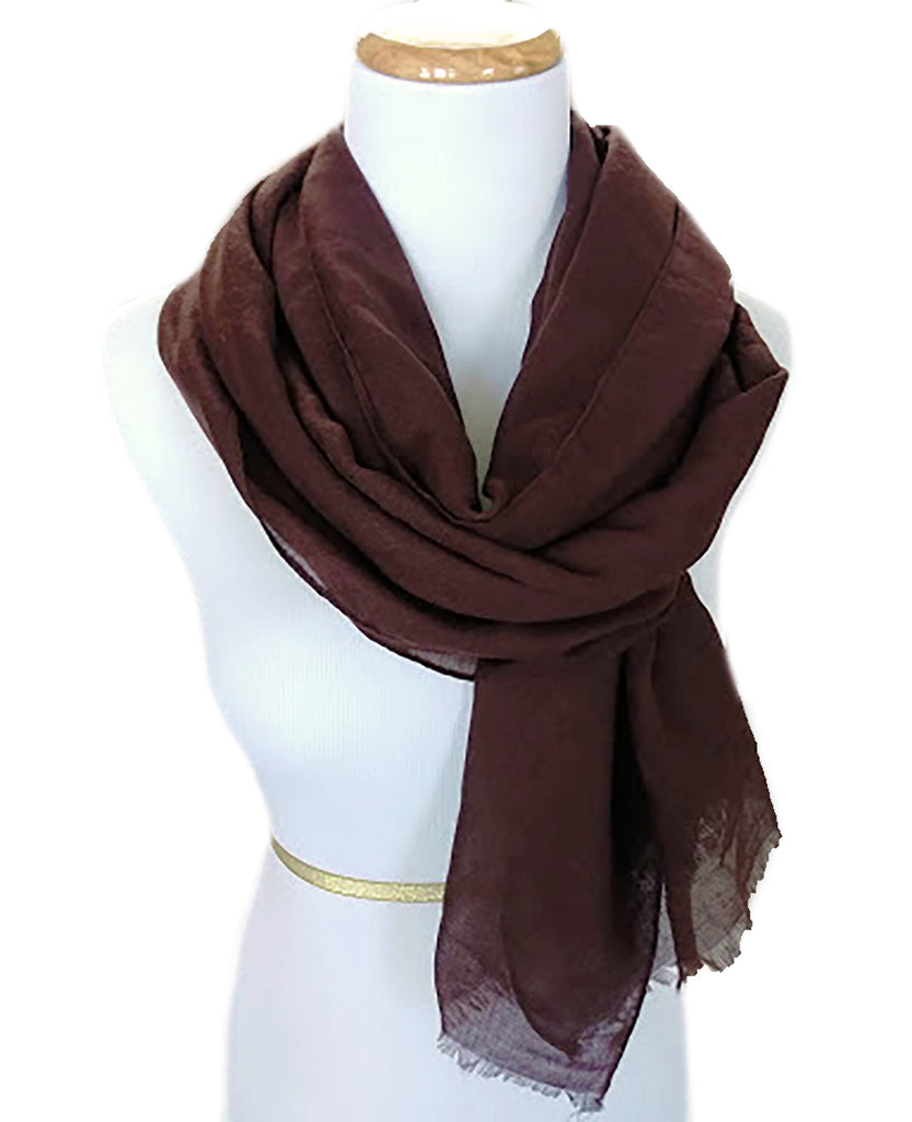 Ladies Scarf in Coffee Brown