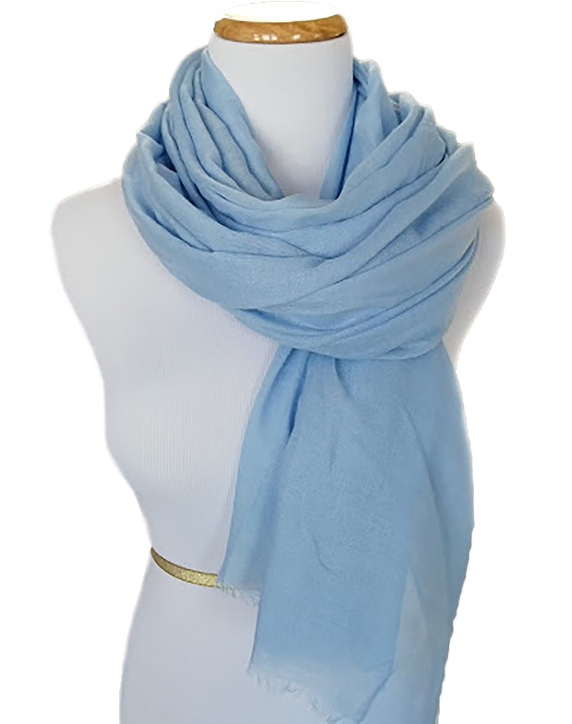 Ladies Scarf in Sky Blue