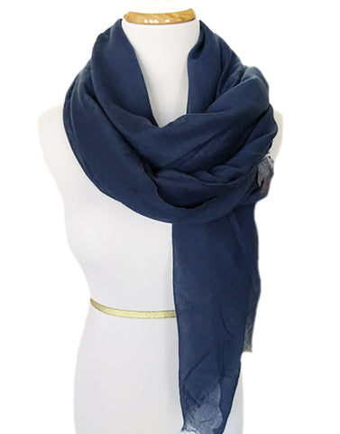 Ladies Scarf in Navy