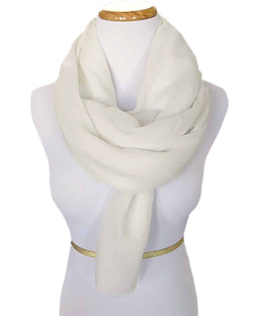 Ladies Scarf in Soft White
