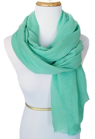 Ladies Scarf in Warm Mint