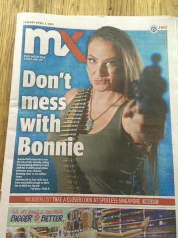 Bonnie Doll on MX front cover