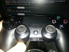 PS4 DS4 Analog Thumbstick Rubber Wearing Off and Splitting (Cayos Reddit.com)