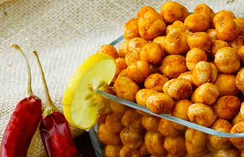 Spicy Lemony Chick Peas