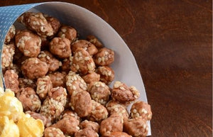 Sea Salt Caramel Almonds (with Sesame Seeds)