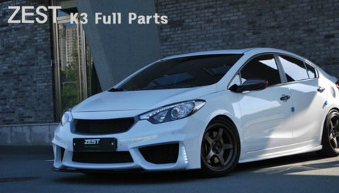 ZEST Forte Sedan Front Bumper & Front Diffuser & Side Skirts & Rear Wing 14+ SHIPPED