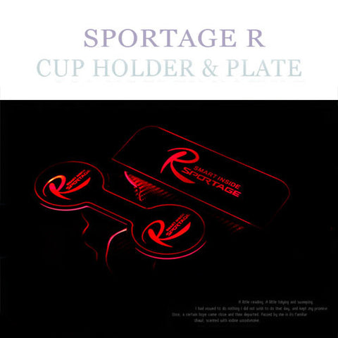ChangeUp SL Sportage LED Cup Holder Plate 10-15 SHIPPED