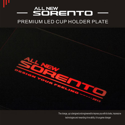 ChangeUp UM Sorento LED Cup Holder Plate 16 + SHIPPED