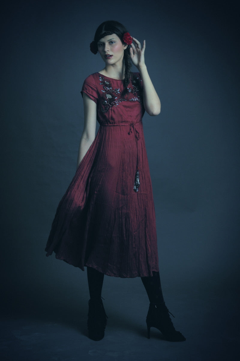 LYLA MAROON DRESS