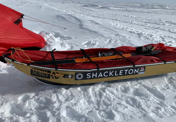 Shackleton Pulk And Skis