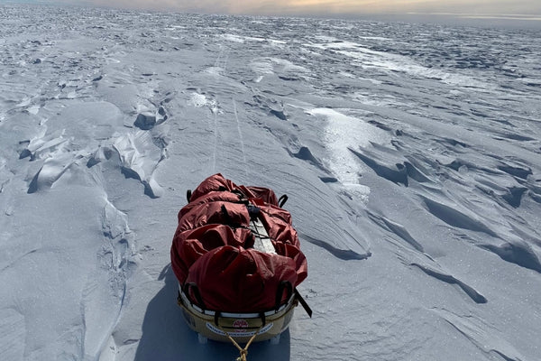 Pulk On Ice Antarctica