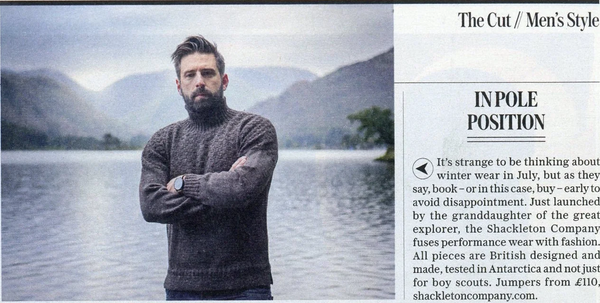 Telegraph Magazine on Shackleton knitwear
