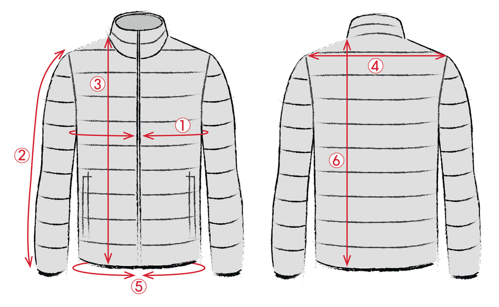 Pilot Down Jacket Size Guide