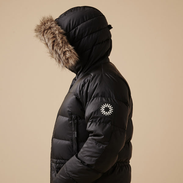 Shackleton Endurance Down Lightweight Parka Jacket | Black