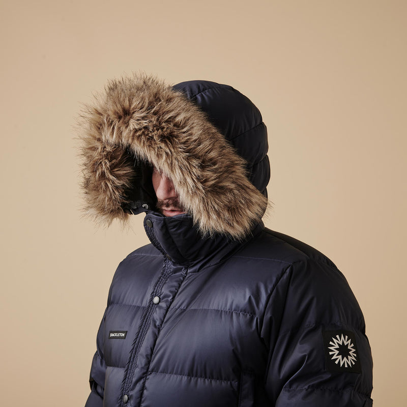Shackleton Endurance Down Lightweight Parka Jacket | Navy Blue