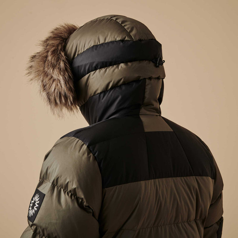 Shackleton Endurance Down Lightweight Parka Jacket | Olive Green/Black