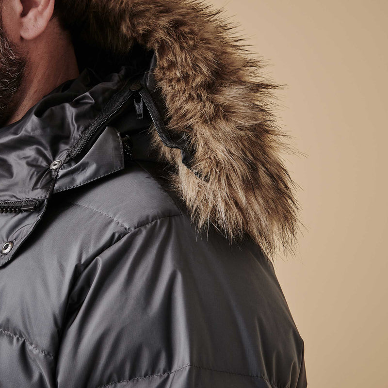 Shackleton Endurance Down Lightweight Parka Jacket | Slate Grey
