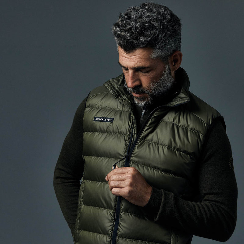 Fortuna Down Vest Gilet | Olive Green