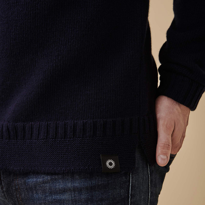 Hero Lambswool Sweater | Navy Blue