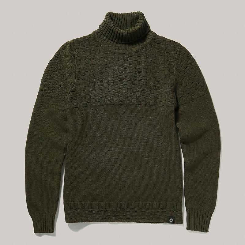 Hero Lambswool Sweater | Olive Green