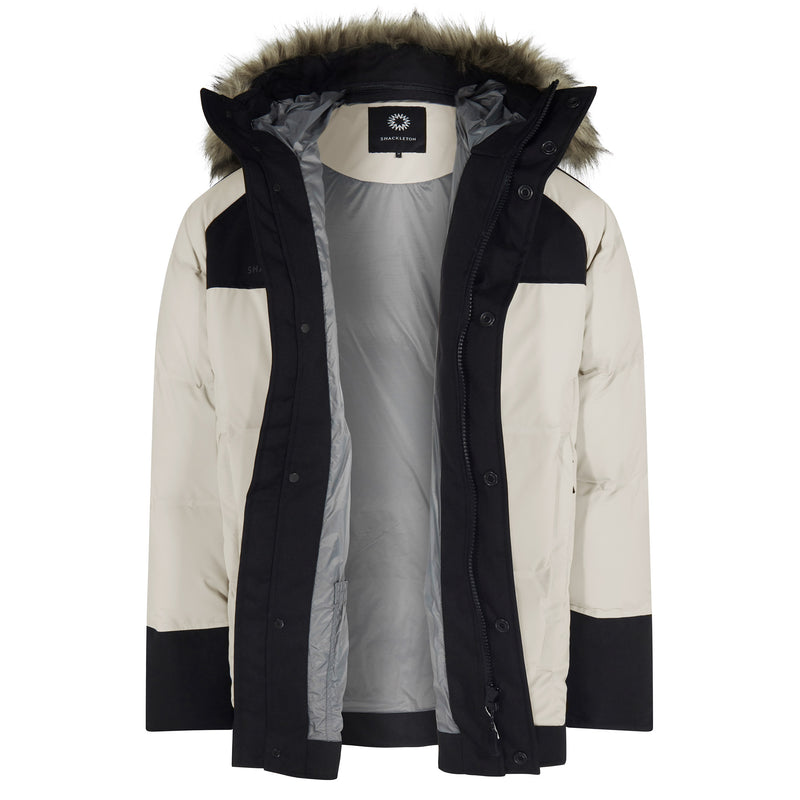 Pilot waterproof down jacket | Off White / Black