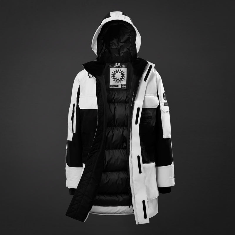 Antarctic Protector Parka | White / Black