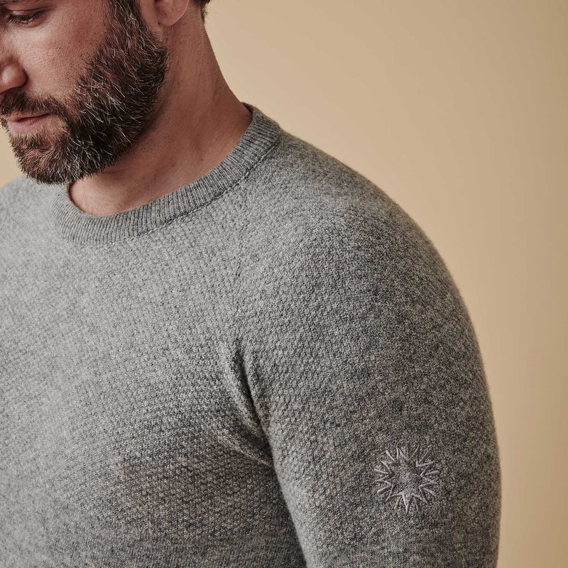 Dulwich Lambswool Sweater | Light Grey