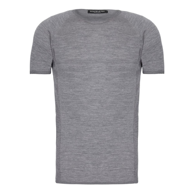 Shackleton Koster Merino Wool T-Shirt | Charcoal