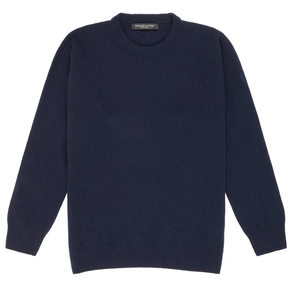 Dulwich Lambswool Sweater | Navy Blue