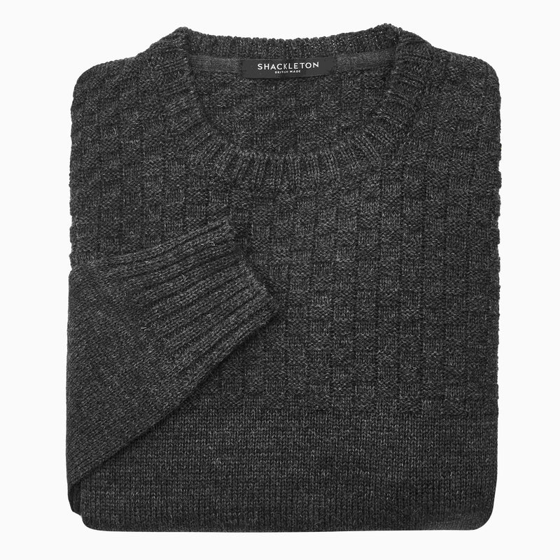 Shackleton Ernest Lambswool Sweater | Charcoal