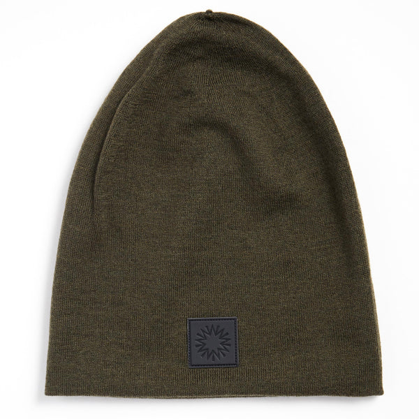 High Top Beanie | Olive Green