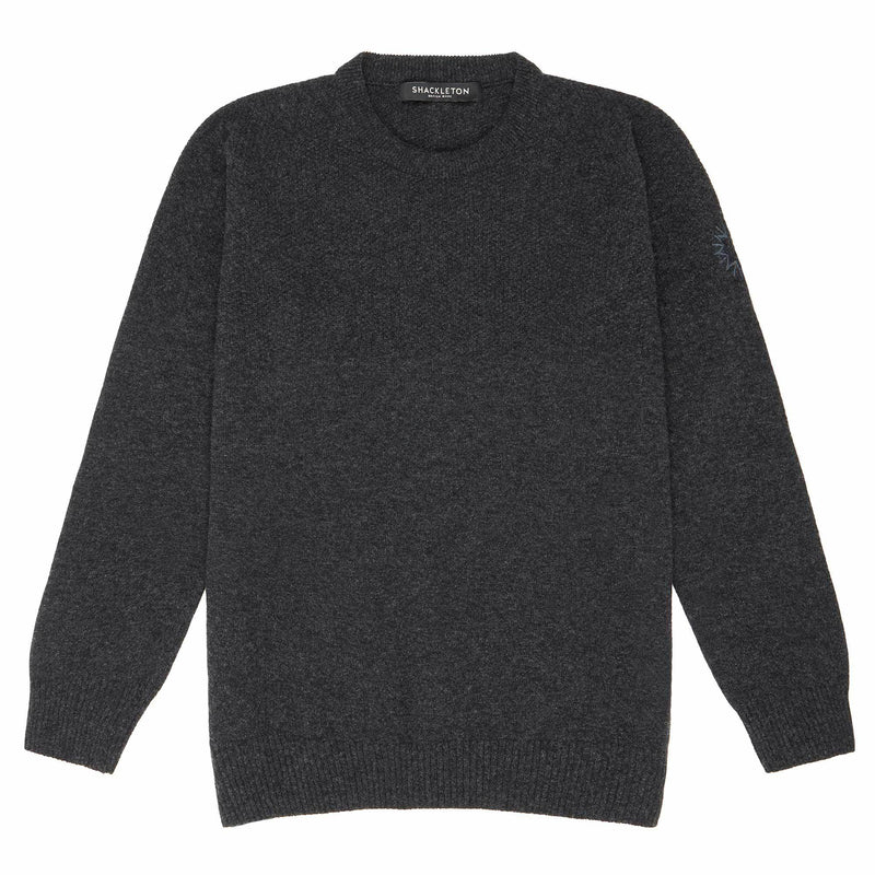 Dulwich Lambswool Sweater | Charcoal Grey
