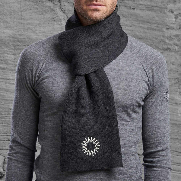 Shackleton Merino scarf in charcoal grey