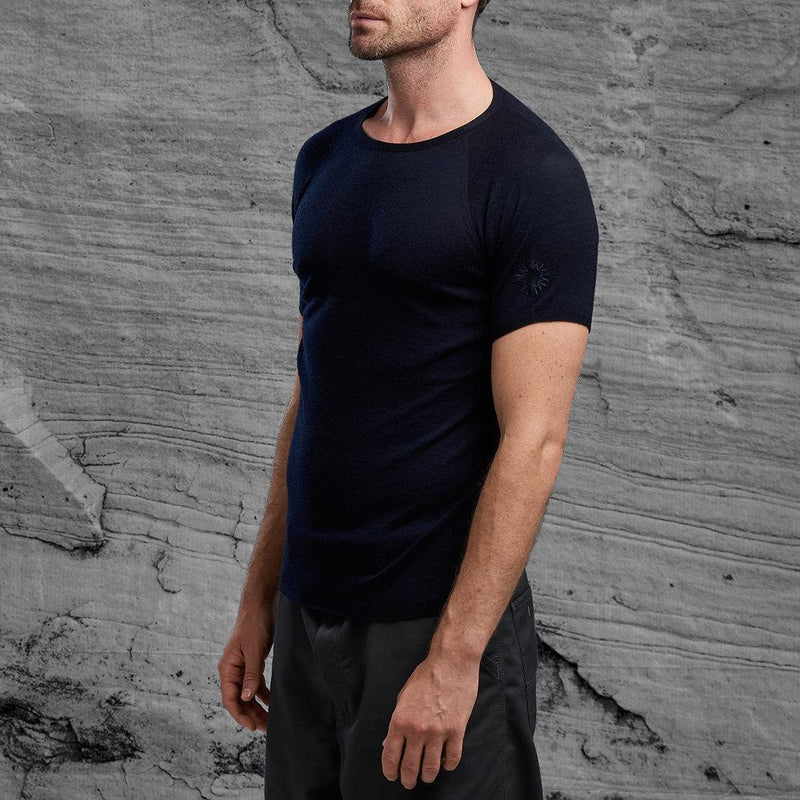Shackleton Koster Merino Wool T-Shirt | Navy
