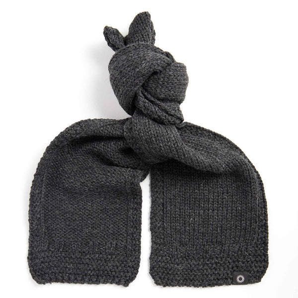 soft wash wool scarf | Charcoal