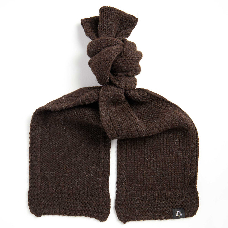 Soft Wash Wool Scarf | Brown