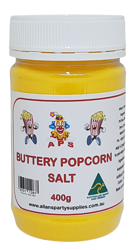 400g Butter Popcorn Salt Cinema Quality Popcorn Salt Allan S Party Supplies