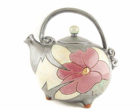 Handmade Pottery Teapot from Flower Collection Tivelasi Pottery