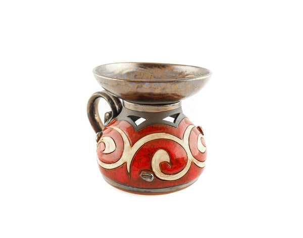 Ceramic Essential Oil Burner - Orient - Handmade Ceramics and pottery | Teapots, Coffee and Tea Mugs, Vases, Bowls, Plates, Ashtrays | Handmade stoneware - 4
