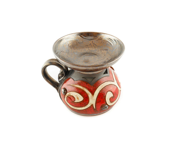 Ceramic Essential Oil Burner - Orient - Handmade Ceramics and pottery | Teapots, Coffee and Tea Mugs, Vases, Bowls, Plates, Ashtrays | Handmade stoneware - 6