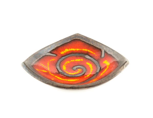"Handmade Ceramic Triangle Plate 5.9"" Fire - Handmade Ceramics and pottery 
