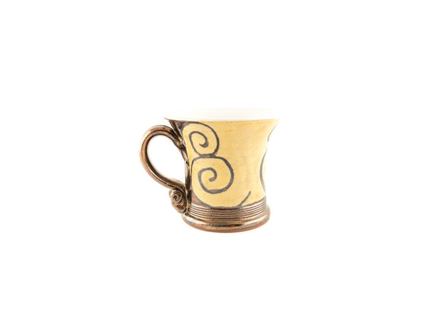 Handmade Pottery Coffee Mug 4.7oz With Gold Decoration - Handmade Ceramics and pottery | Teapots, Coffee and Tea Mugs, Vases, Bowls, Plates, Ashtrays | Handmade stoneware - 4