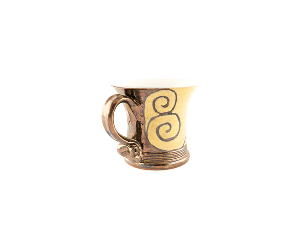 Handmade Pottery Coffee Mug 4.7oz With Gold Decoration - Handmade Ceramics and pottery | Teapots, Coffee and Tea Mugs, Vases, Bowls, Plates, Ashtrays | Handmade stoneware - 5