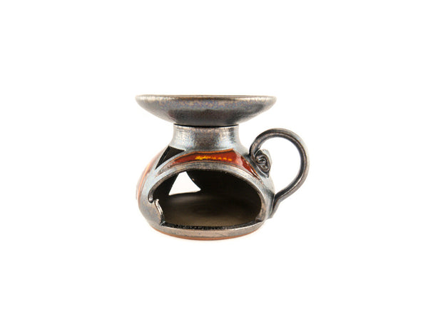 Ceramic Essential Oil Burner - Fire - Handmade Ceramics and pottery | Teapots, Coffee and Tea Mugs, Vases, Bowls, Plates, Ashtrays | Handmade stoneware - 4